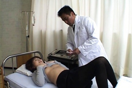 Tempting Asian nurse Nanami Komachi in harcore anal porn action