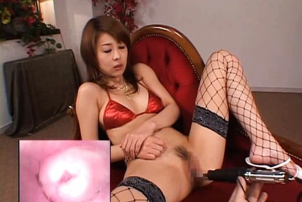 Topnotch Asian cutie Sakurako gets a vibrator in her anal gape