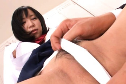 Mischievous schoolgirl Ren Misaki tries anal sex for the first time