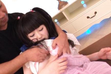 Kinky babe ith pigtails Machiko Ono gets nice anal penetration