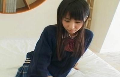 Cute Japanese seductress Yuka Osawa gets her anal banged and ceamed
