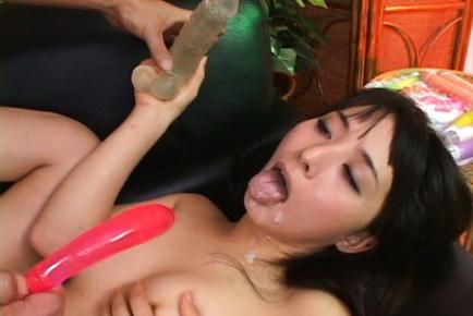 Gorgeous anal sex lover Yuka Osawa enjoys double penetration