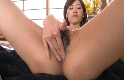 Glorious Asian hottie Kanon Hanai gets her pussy oiled and anal toyed