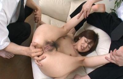 Gorious Asian gal Kanon Hanai experiences anal penetration