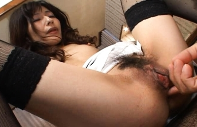 Babe with tiny tits Ryoko likes hot games with her anal and pussy