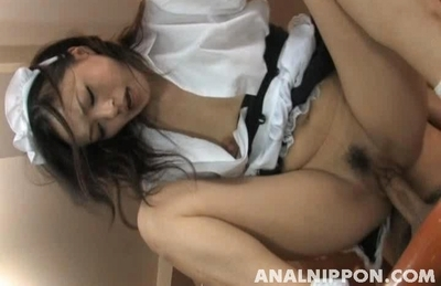 Glorious Asian sex doll Mai Mizusawa gets her slit and anal screwed